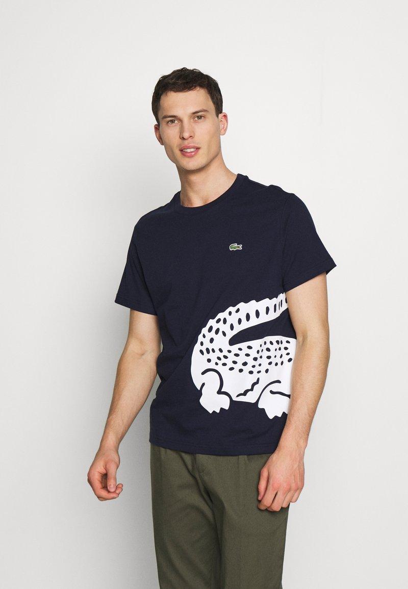 Lacoste - TH5139 - Print T-shirt - navy blue