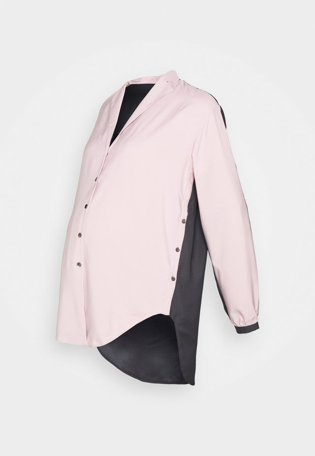 SIDE HUSTLE NURSING - Skjortebluser - pink/grey