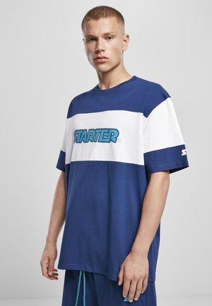 Print T-shirt - space blue/white