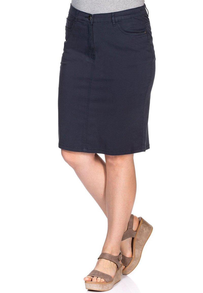 Sheego - Denim skirt - marine