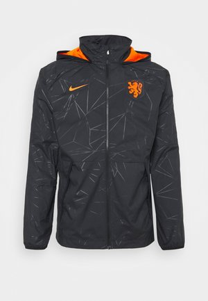 NIEDERLANDE KNVB  - Sportovní bunda - black/safety orange