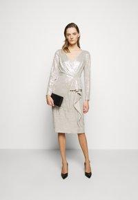 Lauren Ralph Lauren - MILLBROOK DRESS - Koktejlové šaty/ šaty na párty - silver frost shin - 1