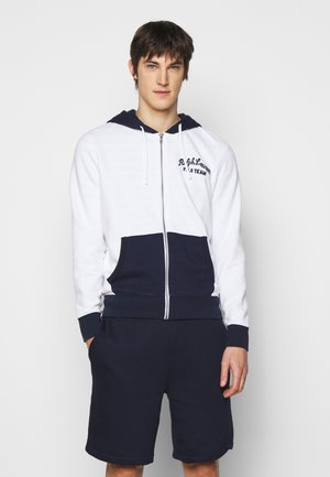 Zip-up hoodie - white/multi