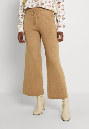 BYMARGITA PANTS - Trousers - tannin melange