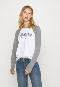 Hollister Co. - SPORTY - Top s dlouhým rukávem - grey - 0