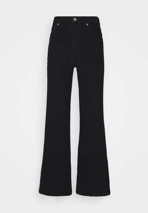 CINDY - Flared Jeans - black