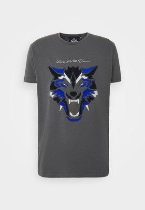 WOLF TEE - Print T-shirt - grey
