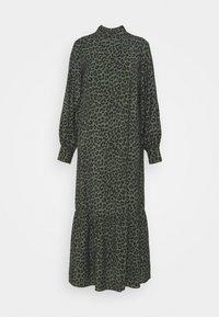 TRISH DRESS - Maxi dress - black/green