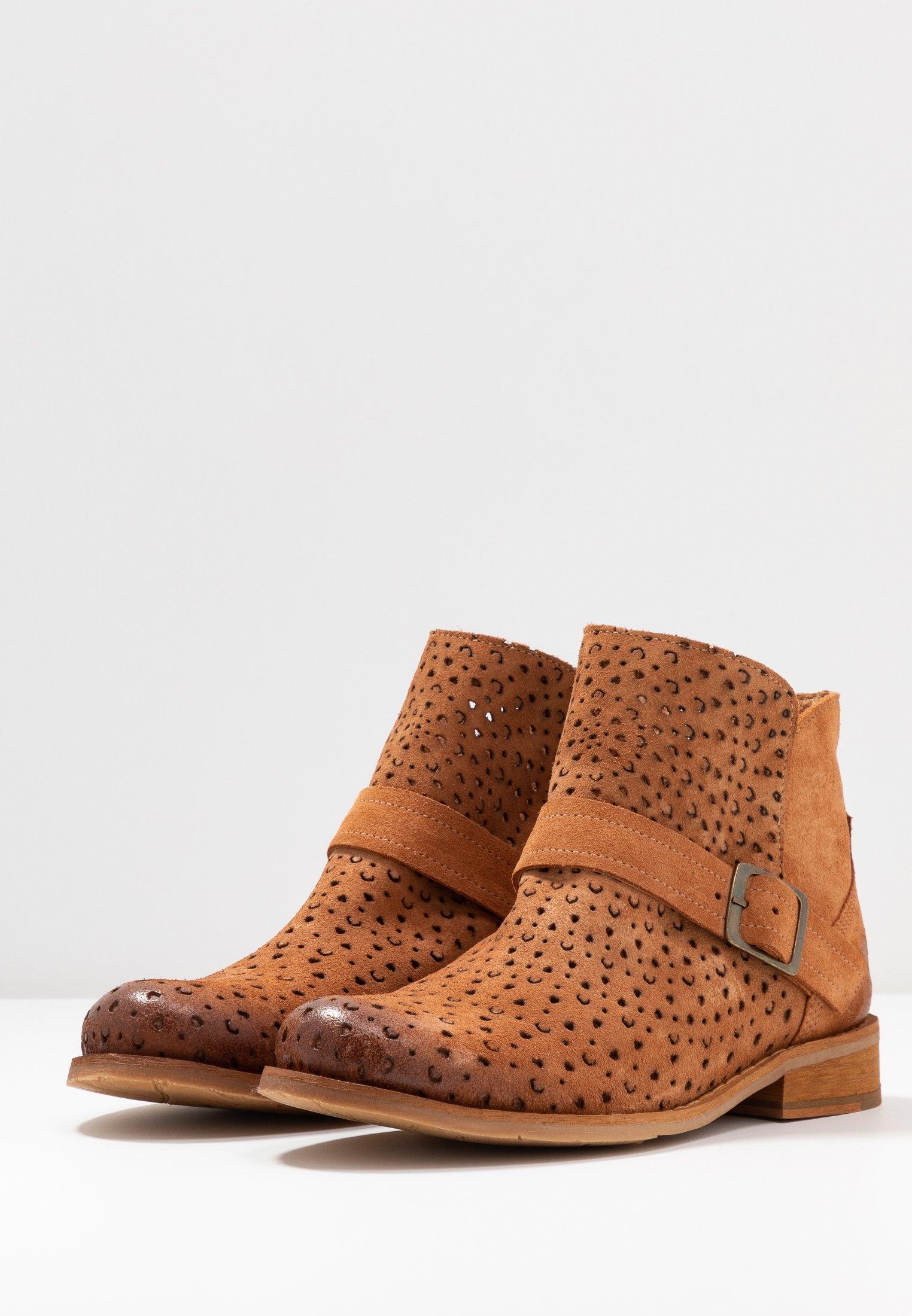 Felmini BEJA - Boots à talons - cognac