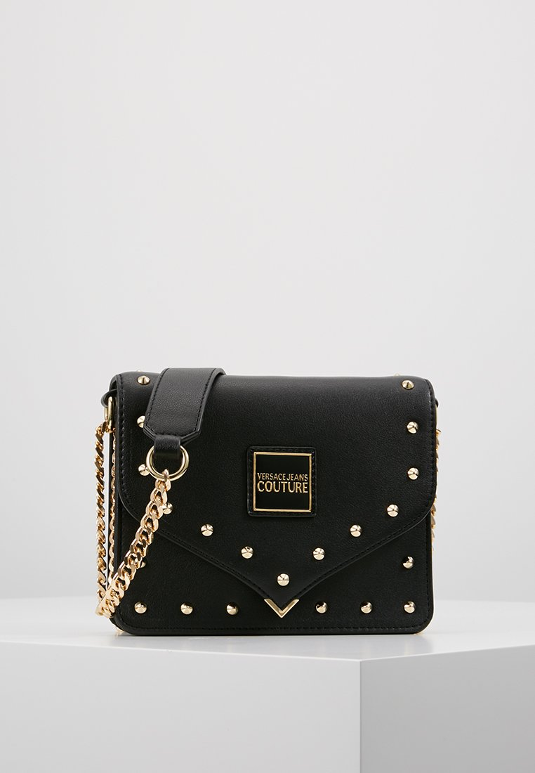 Versace Jeans Couture - STUDS SMALL SHOULDER BAG - Across body bag - nero