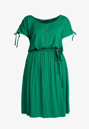 BUTTON DOWN MIDI DRESS - Jerseykjole - green