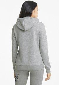 Puma - Felpa con cappuccio - light gray heather - 2