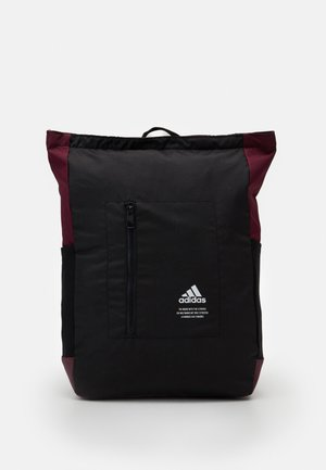 TOP ZIP BACK TO SCHOOL SPORTS BACKPACK UNISEX - Plecak - black/maroon/white