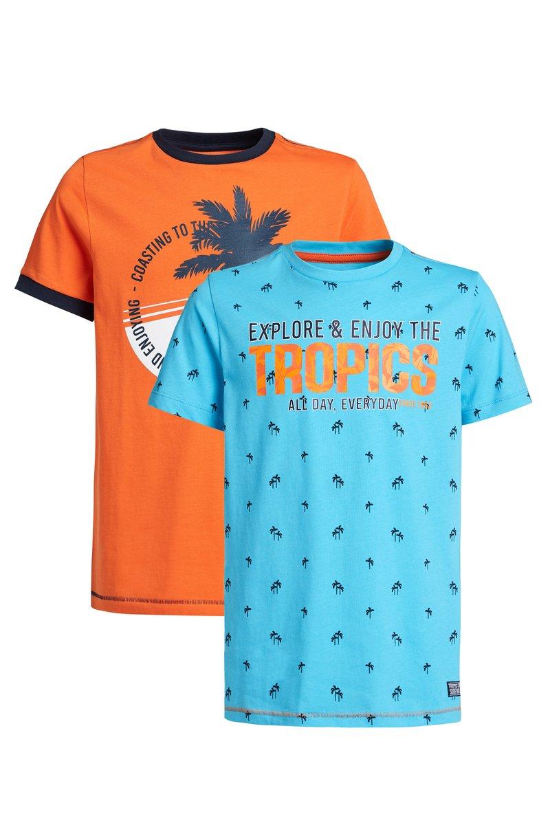 WE Fashion - Print T-shirt - orange