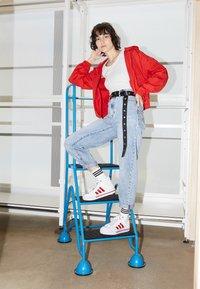 adidas Originals - NIZZA PLATFORM  - High-top trainers - footwear white/scarlet red - 0