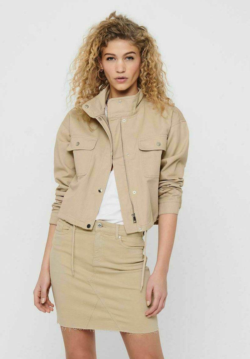 JDY - Summer jacket - beige, off-white, transparent