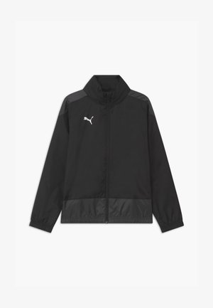 TEAMGOAL TRAINING - Veste imperméable - puma black/asphalt