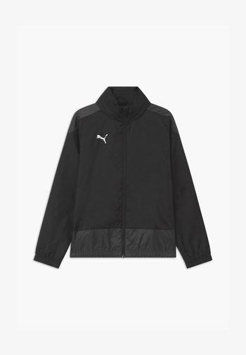 TEAMGOAL TRAINING - Waterproof jacket - puma black/asphalt