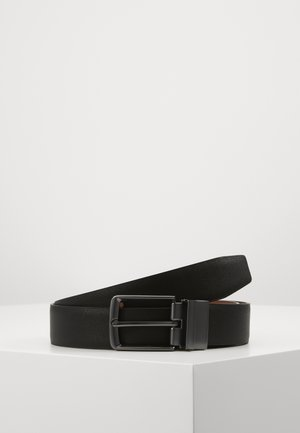 Belt - black/ cognac