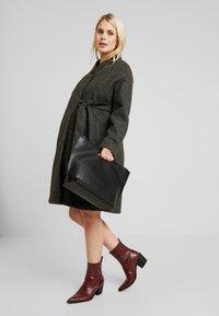 MAMALICIOUS - MLHAZE COAT - Płaszcz wełniany /Płaszcz klasyczny - dark grey melange - 1