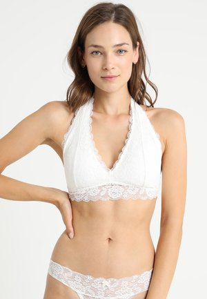 CORE HALTER - Triangle bra - white