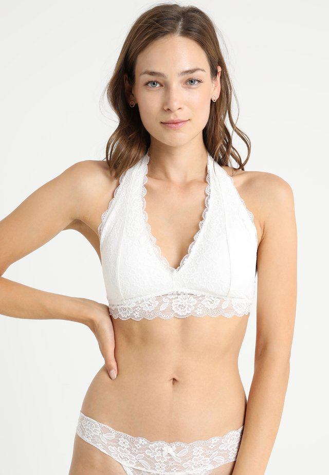 CORE HALTER - Triangel BH - white