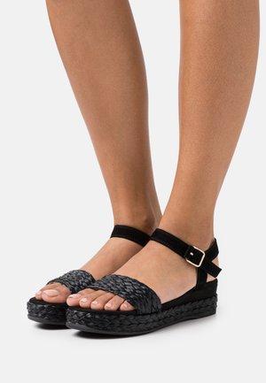 GABIR - Platform sandals - black