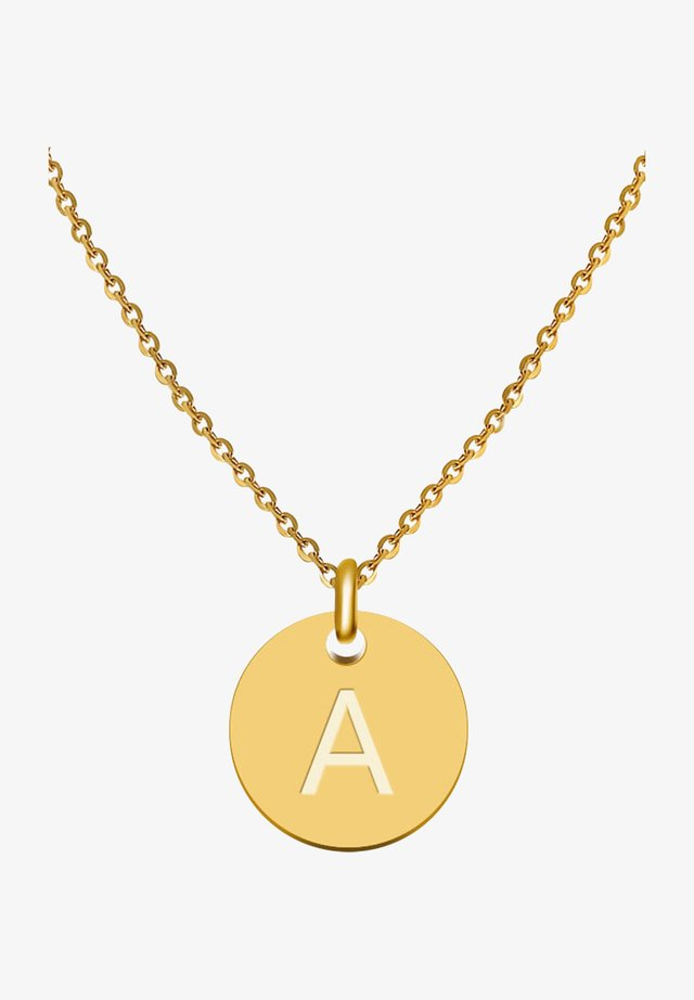 BUCHSTABE A - Collier - gold