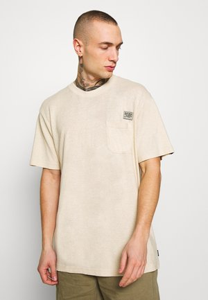 HERITAGE - HEMP RETRO FIT TEE - T-shirt z nadrukiem - macadamia