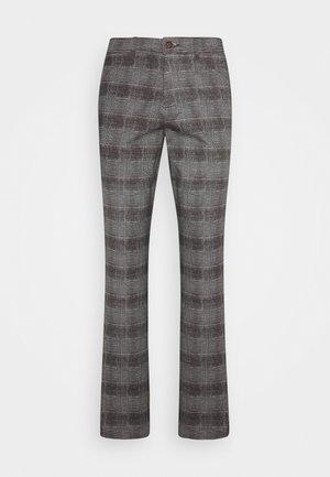 JJIMARCO JJBOWIE CHECK - Pantalon classique - grey