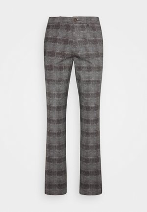 JJIMARCO JJBOWIE CHECK - Trousers - grey