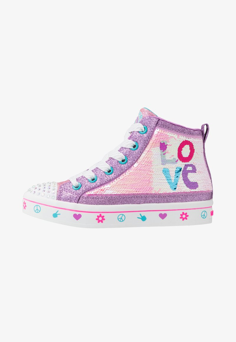 Skechers - FLIP-KICKS LOVE REVERSIBLE SEQUINS - High-top trainers - lavender durasatin/multicolor sparkle
