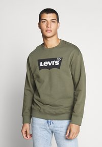 Levi's® - RELAXED GRAPHIC CREWNECK - Sweatshirt - olive night - 0