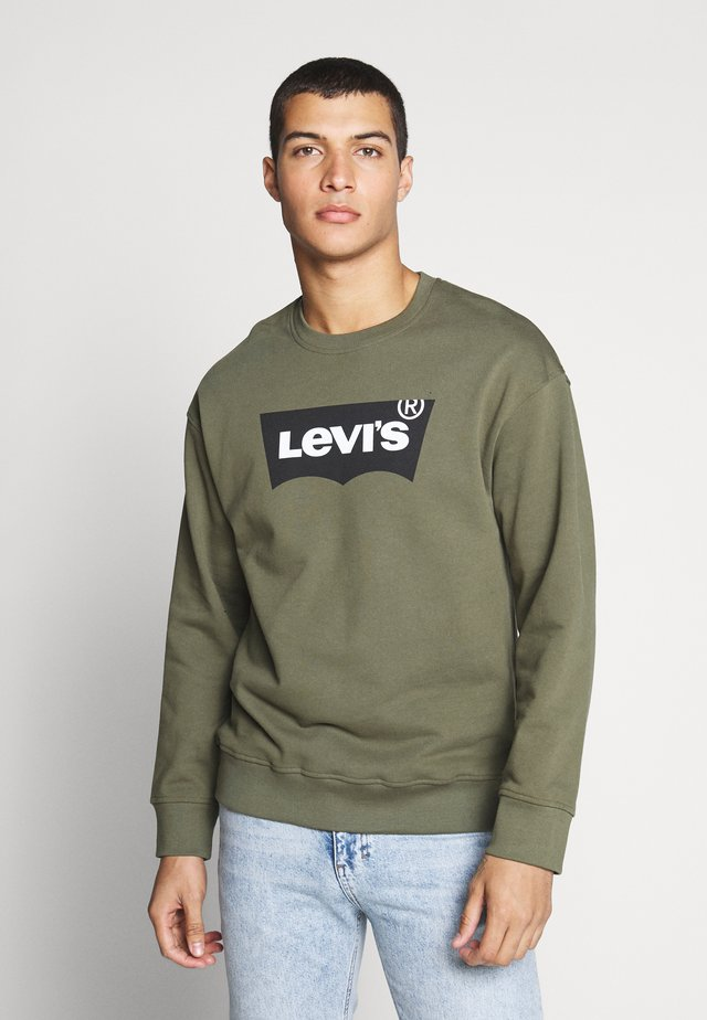 RELAXED GRAPHIC CREWNECK - Collegepaita - olive night