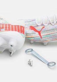 Puma - ULTRA 1.2 MXSG - Screw-in stud football boots - white/red blast/silver - 5