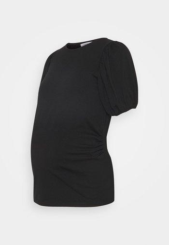 MOM PUFF SLEEVES - Print T-shirt - black