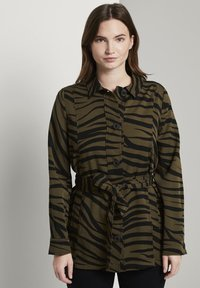 mine to five TOM TAILOR - Zebra-Muster - Summer jacket - olive zebra design - 0