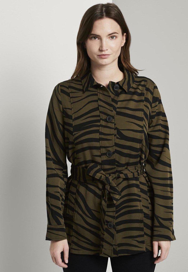 mine to five TOM TAILOR - Zebra-Muster - Summer jacket - olive zebra design