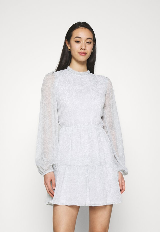 VOLUME SLEEVE DRESS - Kjole - light grey