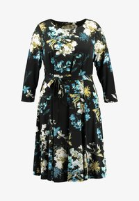 Evans - FLORAL FIT AND FLARE DRESS - Jersey dress - multi - 5