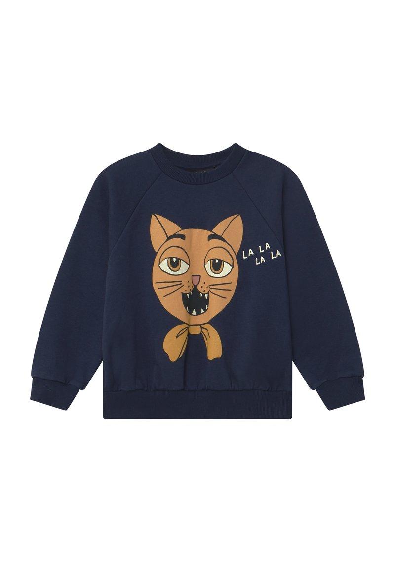 Mini Rodini - CAT CHOIR - Sweatshirt - navy