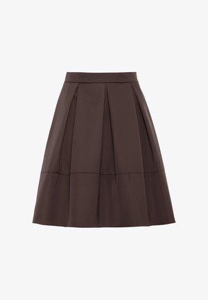 ROCK  - Pleated skirt - aubergine