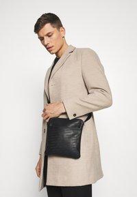 Armani Exchange - SMALL CROSSBODY BAG - Schoudertas - black - 1