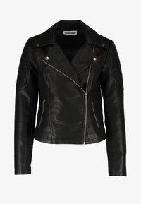 NMREBEL - Faux leather jacket - black