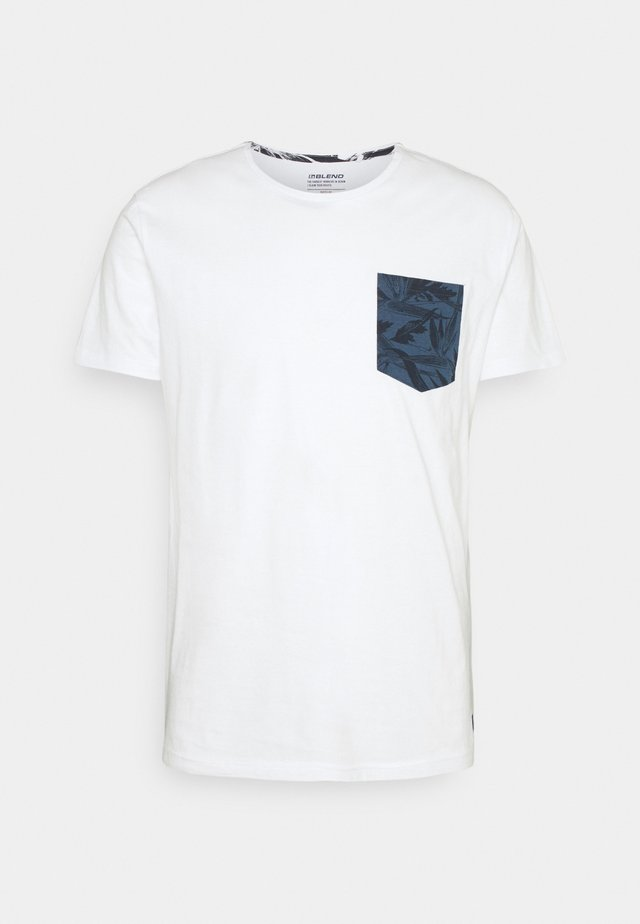 TEE - T-shirt med print - bright white