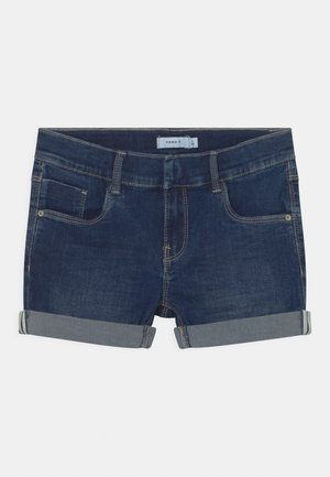 NKFSALLI - Denim shorts - dark blue denim