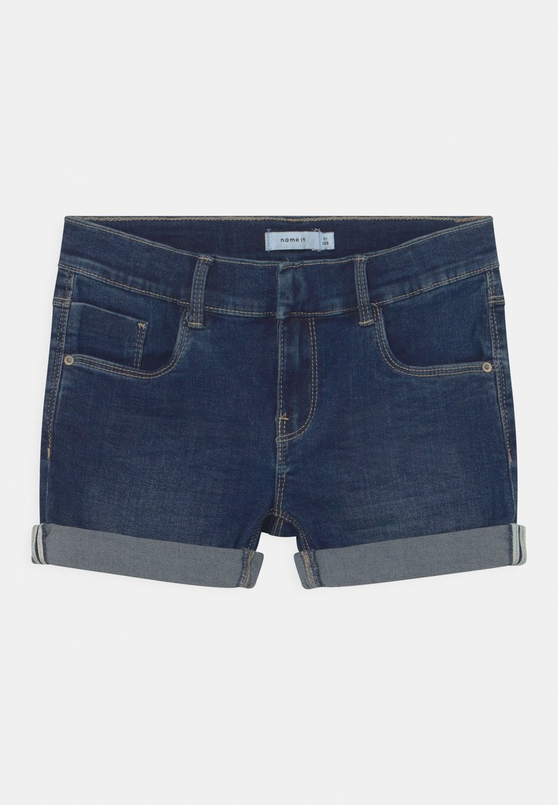 Name it - NKFSALLI - Denim shorts - dark blue denim