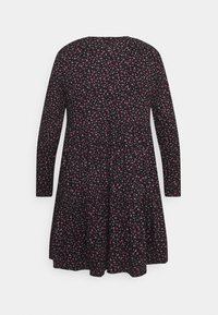 Simply Be - SOFT TOUCH TIERED SMOCK DRESS - Jerseykjole - dark red - 6