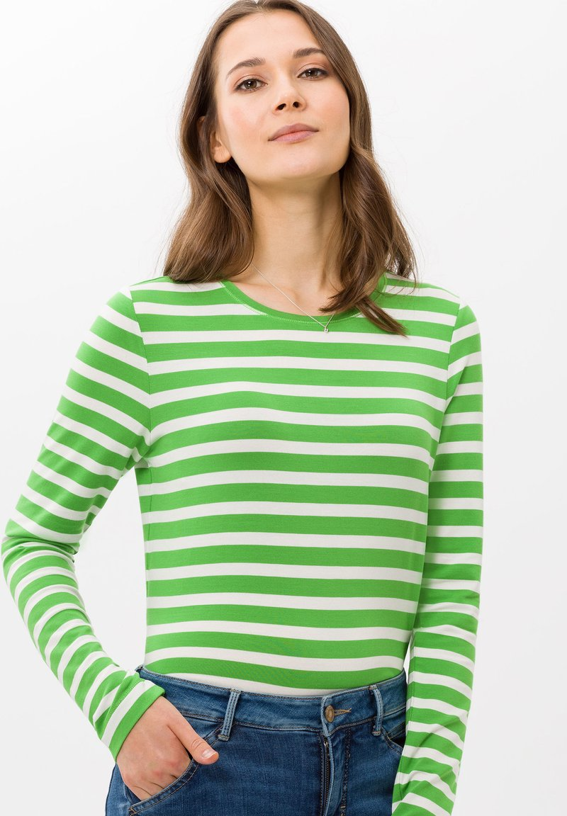 BRAX - STYLE CARINA - Long sleeved top - green