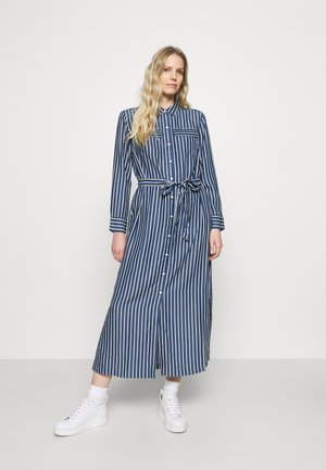 Day dress - blue stripe